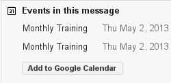 Request shown in gmail